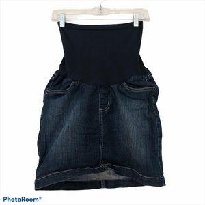 Motherhood Maternity denim jean skirt small